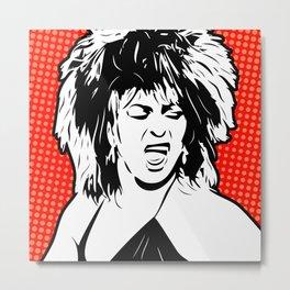 Tina | Pop Art Metal Print