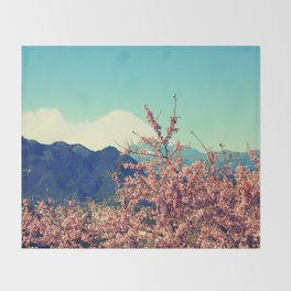 Mountains & Flowers Landscape Throw Blanket