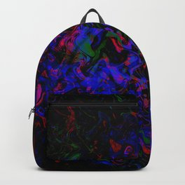 Trippy 3-D Optical Illusion of Color Backpack