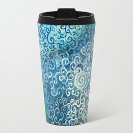 Swirly Deep Blue Sea Travel Mug