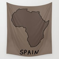 spain Wall Tapestries featuring Spain by Roman Jones