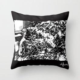 Burning Monk Throw Pillow