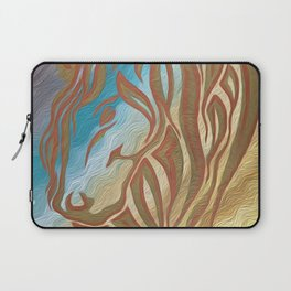 Copper & Old Gold Abstract Mare Laptop Sleeve