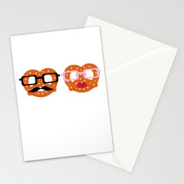 Oktoberfest Pretzel Boobs Funny Stationery Cards