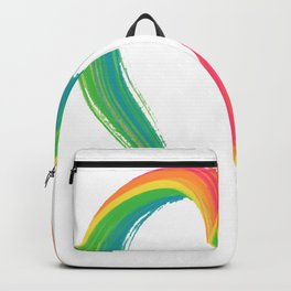 Painted rainbow love heart Backpack