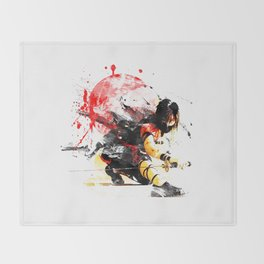 Ninja Japan Throw Blanket