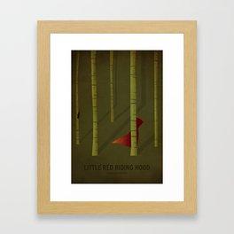 Little Red Ridding Hood Framed Art Print