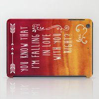 fangirl iPad Cases featuring Fangirl by solMKC