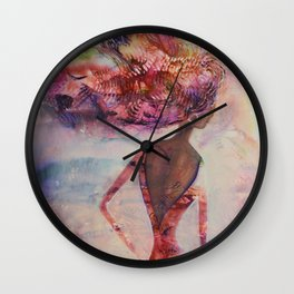 Lean Into The Wind And Listen To Her Whispers Wall Clock