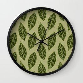ever green foliage Wall Clock