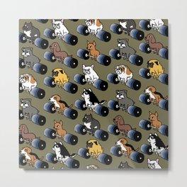 5 plates deadlift Puppies Metal Print