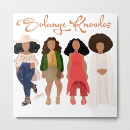 Solange Knowles Metal Print