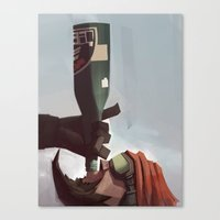 borderlands Canvas Prints featuring Borderlands - Mordecai by BEN Olive