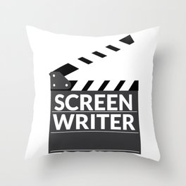 Gift for Screenwriters - Clapboard Name Throw Pillow