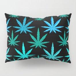 Marijuana Teal Turquoise Weed Pillow Sham