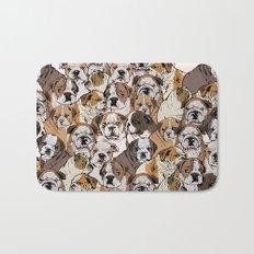 Social English Bulldog Bath Mat