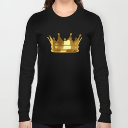 Royal Shining Golden Crown for King or Queen Long Sleeve T-shirt
