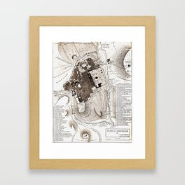 Plan of Jerusalem Framed Art Print