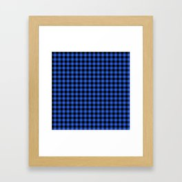 Classic Royal Blue Country Cottage Summer Buffalo Plaid Framed Art Print