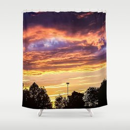 Sunset in Exeter Shower Curtain