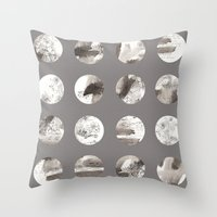 moon phases Throw Pillows featuring Moon phases by Dreamy Me