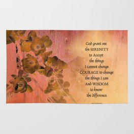 Serenity Prayer Quince and Fence One Rug