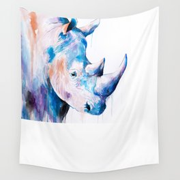 Blue Rhino Wall Tapestry