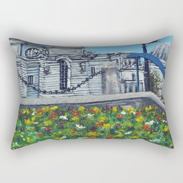 Spring at City Hall, Cardiff Rectangular Pillow