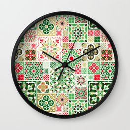 Moroccan Christmas Wall Clock