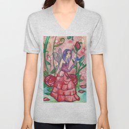 Fairy Of Roses Unisex V-Neck
