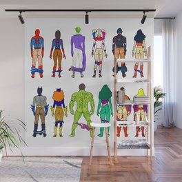 Superhero Butts - Power Couple Wall Mural