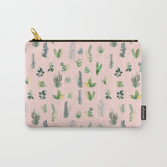 pink pattern flowers Carry-All Pouch