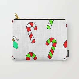 Christmas Lights and Candy Canes Carry-All Pouch
