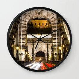 Budapest Chain Bridge Wall Clock