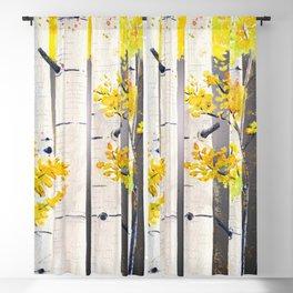 Birch Tree Blackout Curtain