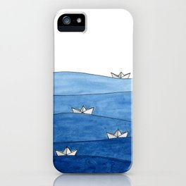 Paper boats iPhone Case