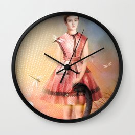 Girl In The Lake Wall Clock