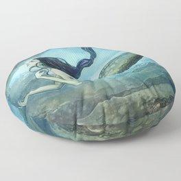 mermaid treasure Floor Pillow