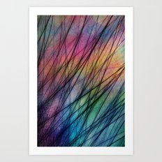 Tropical Feather Abstract II Art Print