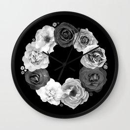 Rose Wreath I Wall Clock