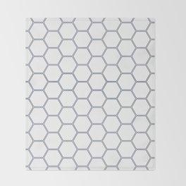 Honeycomb Navy #278 Throw Blanket