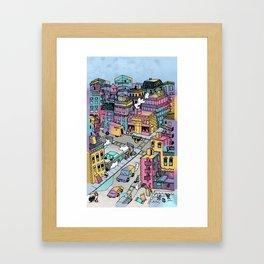 Tiny Town Framed Art Print