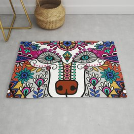 Beautiful Colorful Vintage Styled Bohemian Boho Chic Hippie Bear Rug