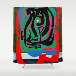 Hearts and Minds Are Not Straight Lines Never Let The Mind Go Asinine  Shower Curtain