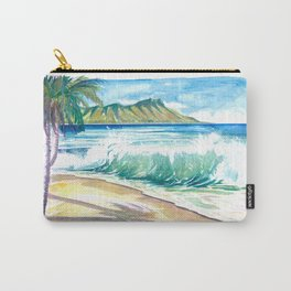Waikiki Waves with Ocean Spray In Honolulu Hawaii Carry-All Pouch
