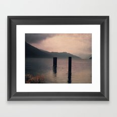 mountains inner peace Framed Art Print