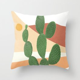 Abstract Cactus II Throw Pillow