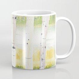 Behind The Birch Trees Coffee Mug