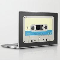 cassette Laptop & iPad Skins featuring Compact cassette by nvbr