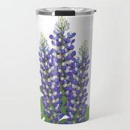 Blue and white lupine flowers Travel Mug
